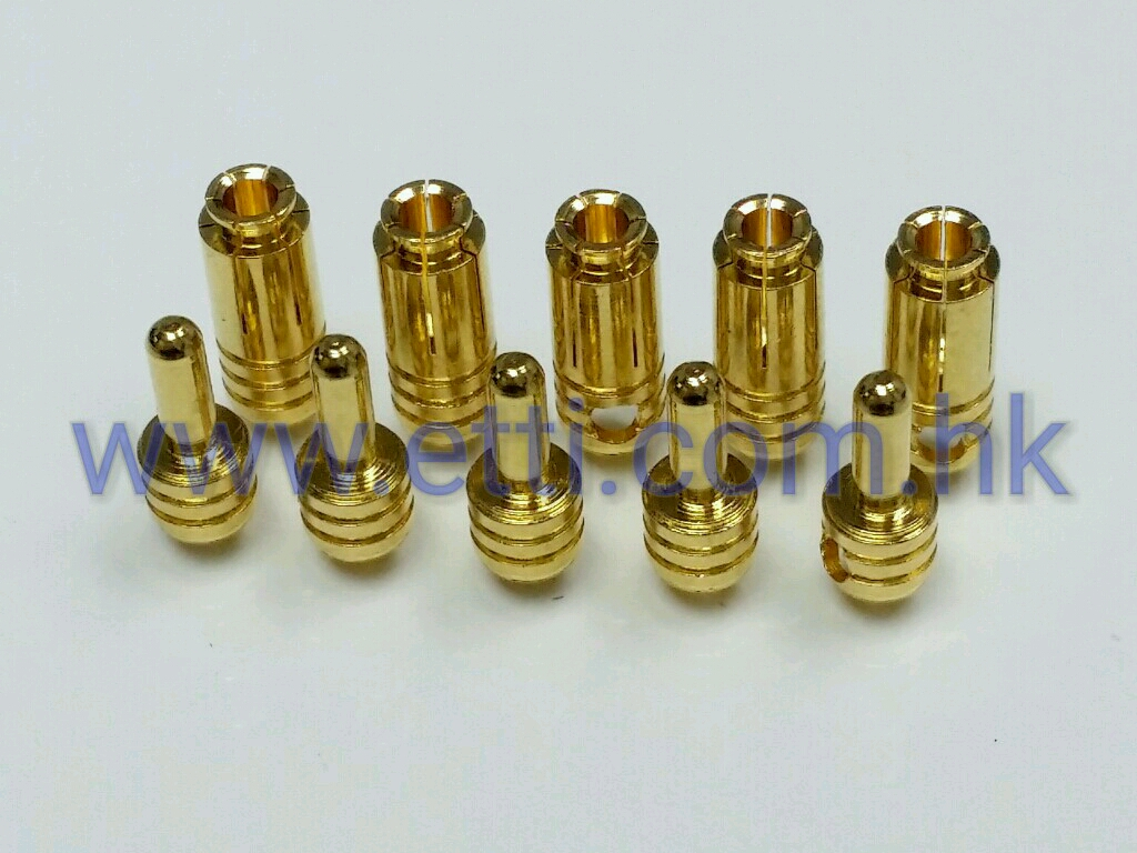 Ultra Low Resistance 2.5mm Goldstecker (Pack for 5 pairs)