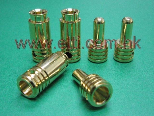 Ultra Low Resistance 3.5mm Gold Plug (Pack for 3 pairs)