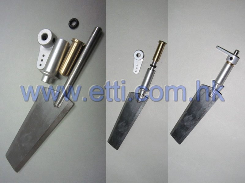 ECO Rudder completed set (4mm rudder shaft)