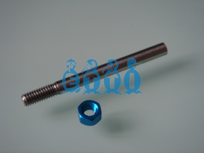 M4 prop shaft for .130(3.2mm) flex cable (45mm long)