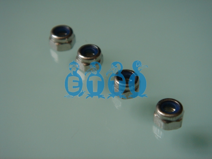 M4 Stainless Steel Nylon Lock Nut (10 Pcs.)