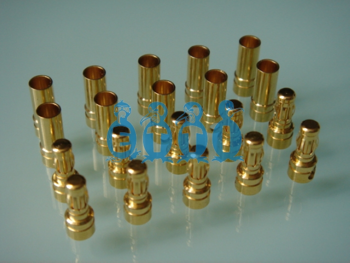 3.5mm Gold Connector(Pack for 3 pairs)