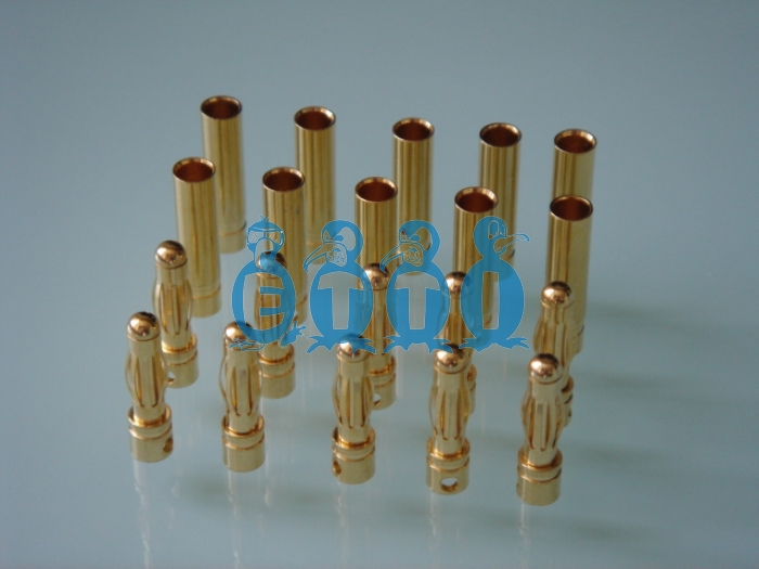 4mm Goldstecker (Pack for 5 pairs)