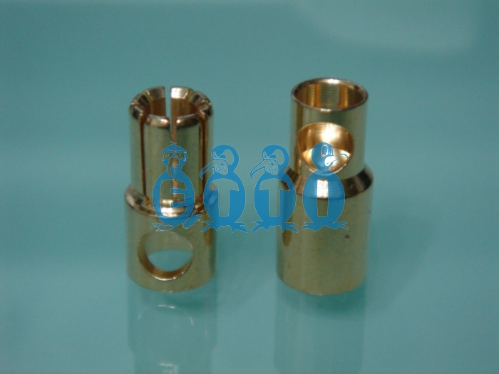 6mm Gold Plug (Pack for 2 pairs)