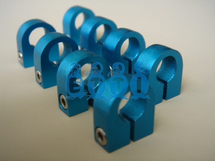 Anodized Blue Rigger Sponson Speedy Changing Clamp 10mm