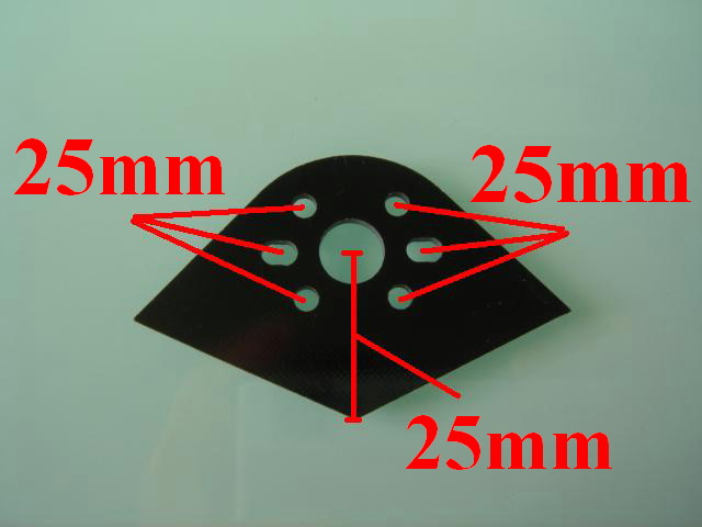 540 size Carbon Fiber Motor Plate (25mm Height)
