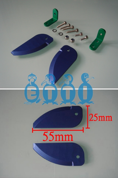Anodized Aluminium Turn Fin