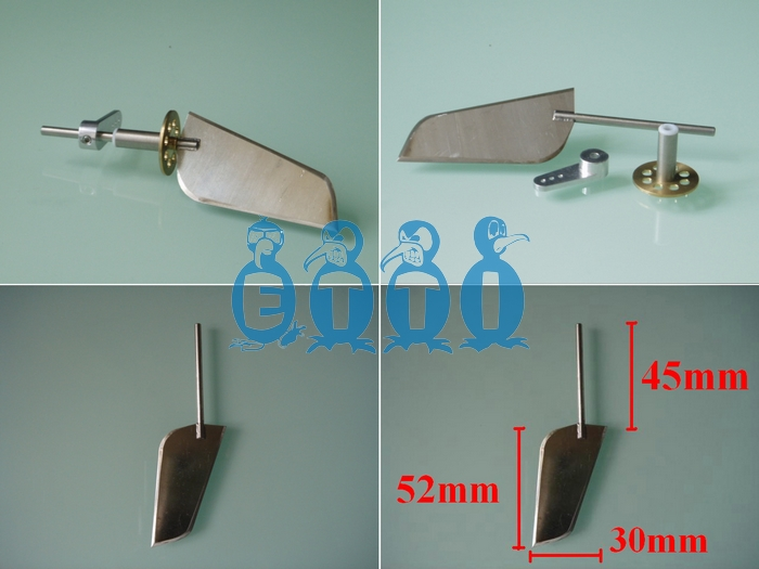 ECO Rudder completed set (Round Shape)