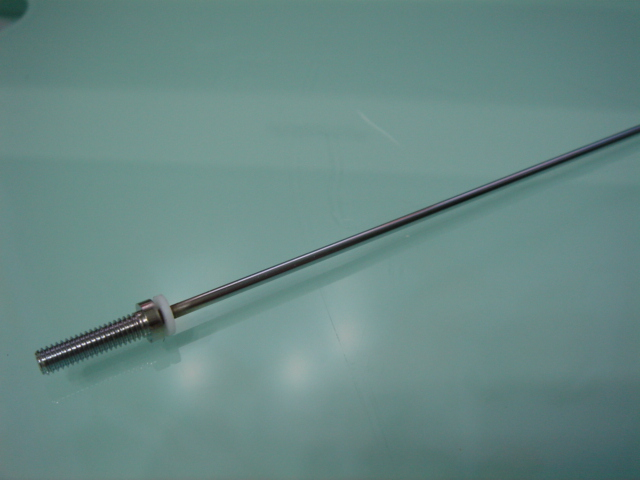 2mm ECO Straight shaft c/w M4 stub shaft (220mm in length)