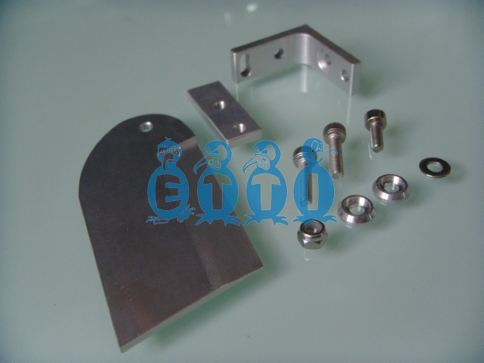 Adjustable Aluminium Turn Fin c/w holder (L:60mm x W:35mm)
