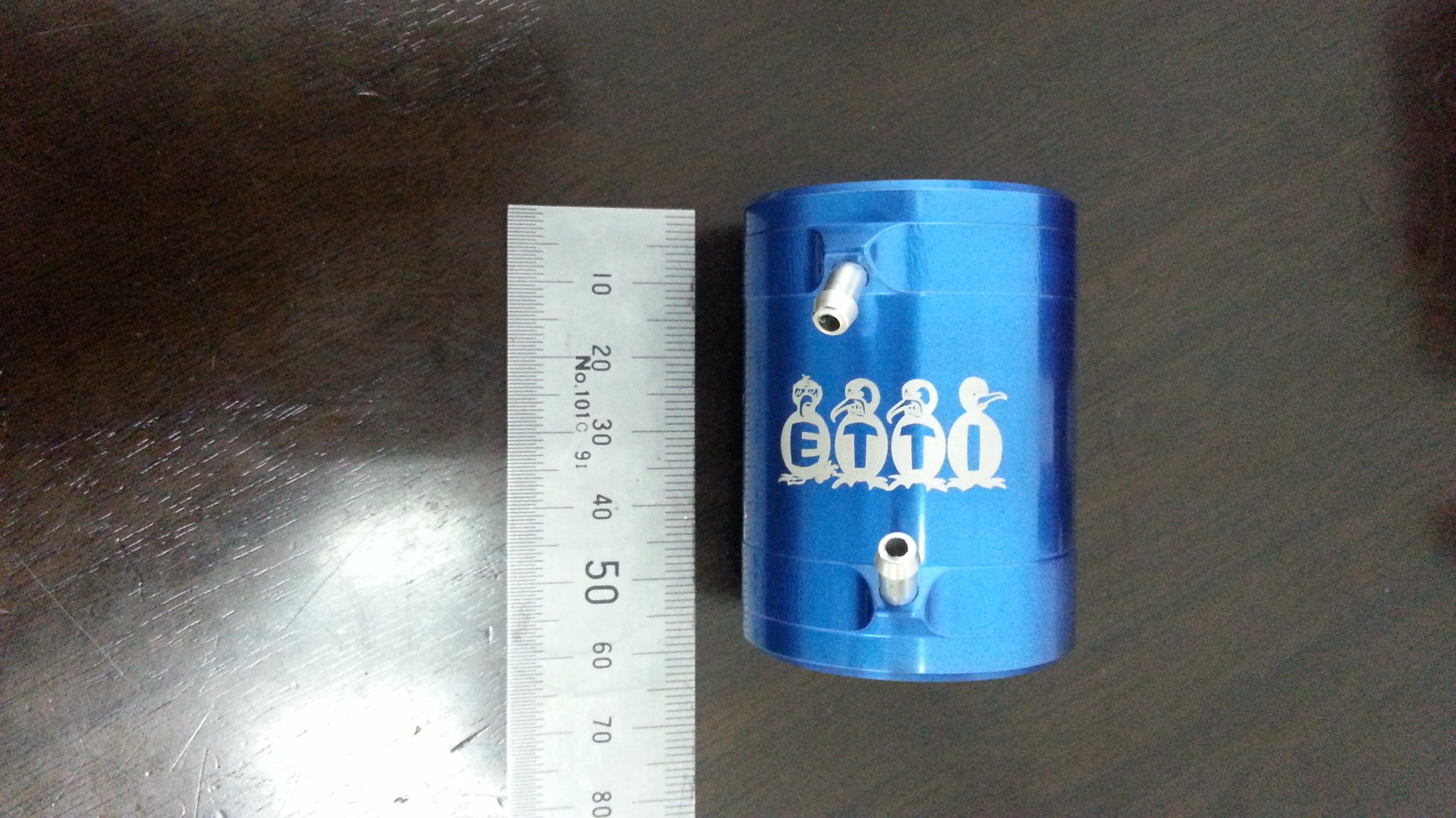 B36 Anodized Blue Motor Cooler (L:55mm)