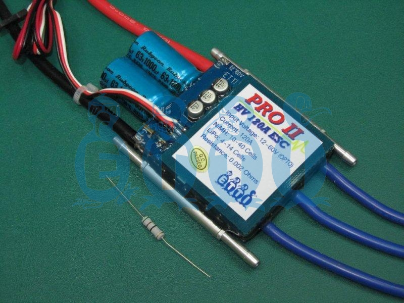 HV 120A Opto PRO II Navy Competition Brushless ESC (10-40 Opto)