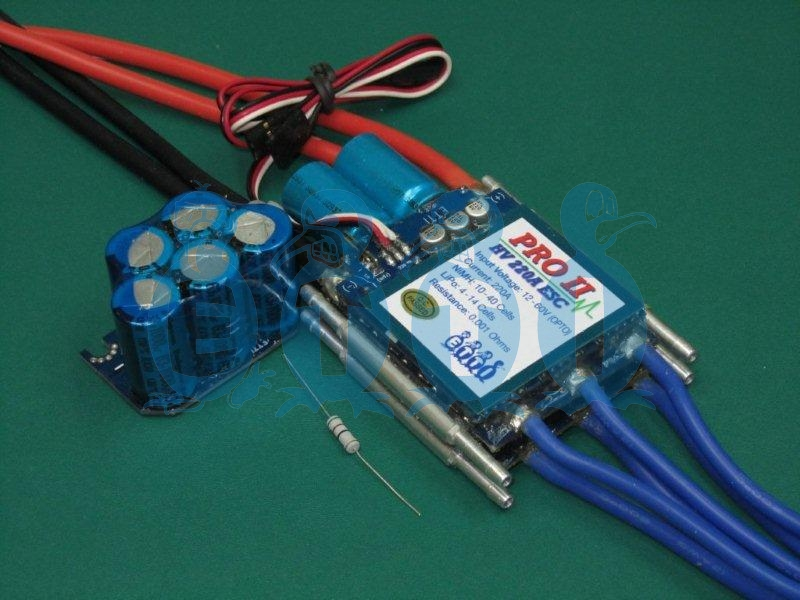 HV 220A Opto PRO II Navy Competition Brushless ESC (10-40 Opto)