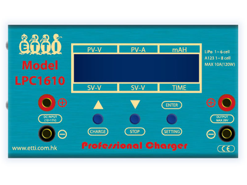 Professional Smart LiPo Charger (10A) (LPC1610)