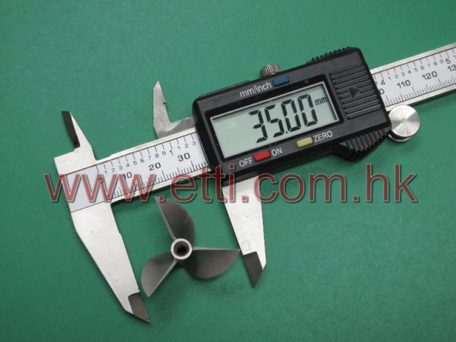 CNC Aluminum Alloy V935 3-blade Prop (35mm)(Right side rotation)